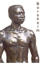 Load image into Gallery viewer, Reginald Walking Man Bronze Statue African American Sculpture Black Patina Standing Figure Art