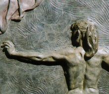 Load image into Gallery viewer, Detail Rehearsal Dancer Back View Bronze Bas-relief Sculpture Wall-Hanging Art