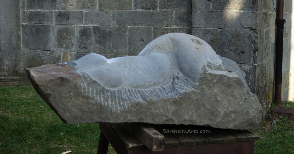 Casacata (Waterfall) ~ Symposium 2013 Castelvecchio Valleriana Tuscany Italy Nude Torso of a Woman in front of La Pieve Church