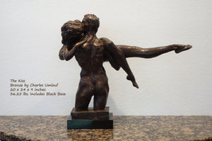 Charles Umlauf Bronze Sculpture The Kiss Embracing Couple Art
