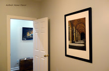 Load image into Gallery viewer, Art for Airbnb home rental great sense of travel Palazzo Pitti - Firenze, Italia ~ Original Pastel & Charcoal Drawing Repeating Arches in perspective