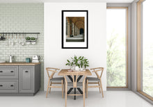 Load image into Gallery viewer, Mockup of Dining Room Wall Art Palazzo Pitti - Firenze, Italia ~ Original Pastel & Charcoal Drawing Repeating Arches in perspective
