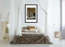 Load image into Gallery viewer, neutral colors for relaxing in bedroom art Palazzo Pitti - Firenze, Italia ~ Original Pastel & Charcoal Drawing Repeating Arches in perspective