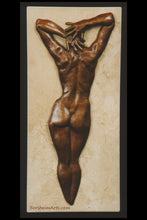 Load image into Gallery viewer, Ten Female Nude Back Hands Small Bronze Sculpture Stone Base