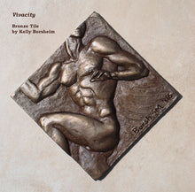 Load image into Gallery viewer, Vivacity Nude Man Bronze Tile Diamond Shape