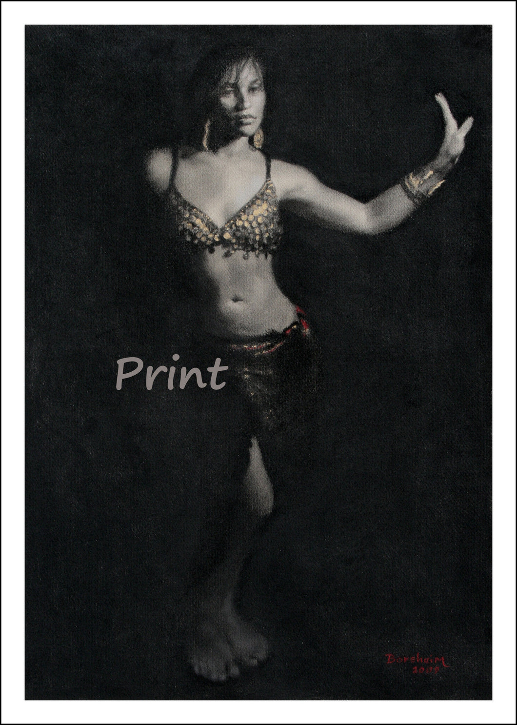 Attitude Belly Dancer Fine Art Print