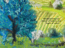 Load image into Gallery viewer, Detail Digital Download Vineyards of Casignano Tuscany Italy Fine Art Print Olive Trees Fields of Gold and Green Landscape Digital Download Printable Art Farmers Casignano