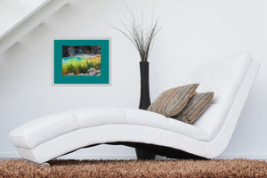 In white room Rusalka Bulgaria Seaside Grasses Landscape Painting of Beach Resort Black Sea Golden Green Grasses Teal waters Digital Download Pastel Art