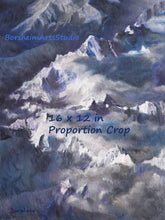Load image into Gallery viewer, Alps SnowCapped Mountains Aerial View YOU Print Fine Art Digital Download