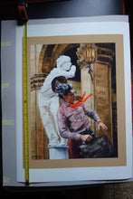 Load image into Gallery viewer, PRINT Street Performers Men Florence Italy Mimes Buskers in Firenze