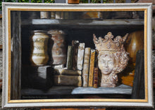 Load image into Gallery viewer, Queen of the Shelf Books Realism Original Still Life Oil Painting