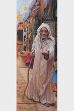 Load image into Gallery viewer, The Beggar Essaouira Morocco Passages Exhibition Pastel Art