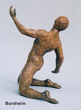 Load image into Gallery viewer, Torsione Nude Male Dancer Twists Torso On His Knees Movement Bronze Statue
