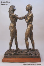 Load image into Gallery viewer, I am You Standing Couple Bronze Instant Connection