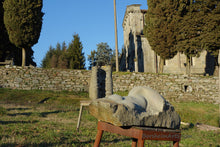 Load image into Gallery viewer, Nude Torso of a Woman Casacata (Waterfall) ~ Symposium 2013 Castelvecchio Valleriana Tuscany Italy in front of La Pieve Church
