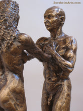 Load image into Gallery viewer, Detail of Man's Body I am You Standing Couple Bronze Instant Connection