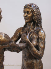 Load image into Gallery viewer, Detail Woman's Face and upper body I am You Standing Couple Bronze Instant Connection