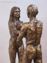 Load image into Gallery viewer, Textured bronze couple sculpture I am You