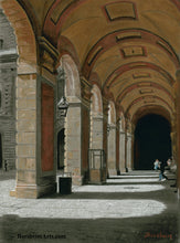 Load image into Gallery viewer, Palazzo Pitti - Firenze, Italia ~ Original Pastel & Charcoal Drawing Repeating Arches in perspective