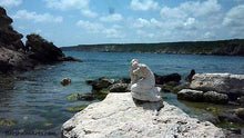 Load image into Gallery viewer, Sirena Mermaid Stone Carving Black Sea Art Symposium Rusalka Kavarna Bulgaria 2014