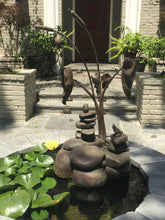 Load image into Gallery viewer, Rock Towers and Frogs Bronze Outdoor Garden Sculpture in Private Collection California