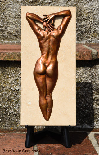 Ten Female Nude Back Hands Small Bronze Sculpture Stone Base Easel Sold Separately