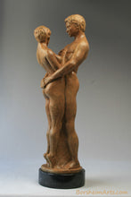 Load image into Gallery viewer, Together and Alone Bronze Sculpture of Man Woman Couple