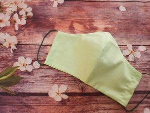 Handmade Reusable Face Mask Pastel Green