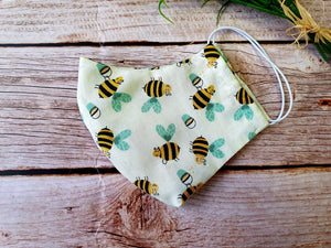 CHandmade Reusable Face Mask Bees