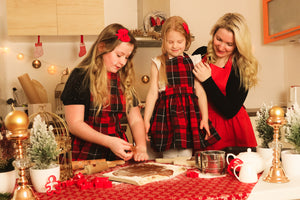 Handmade Vintage checkered Mother and Daughter Aprons