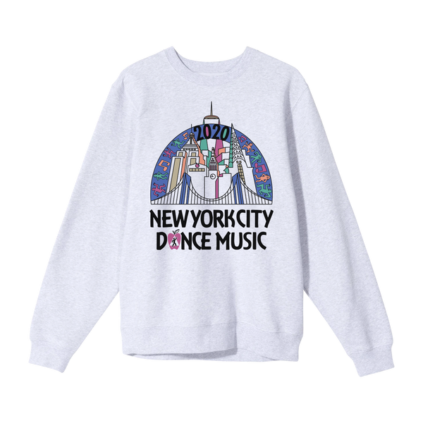 NYC Skyline Vintage Sweater - Grey