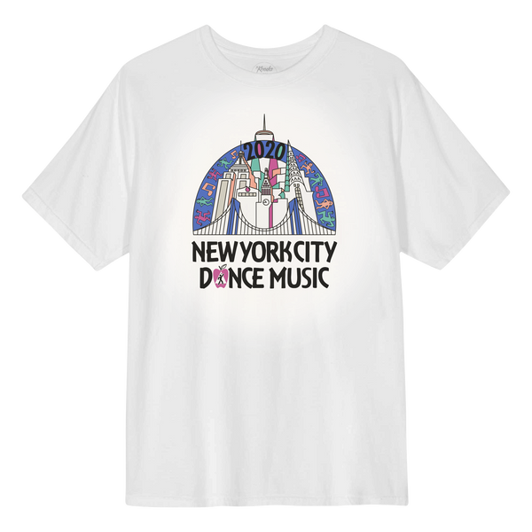 NYC Skyline Vintage T-Shirt - White