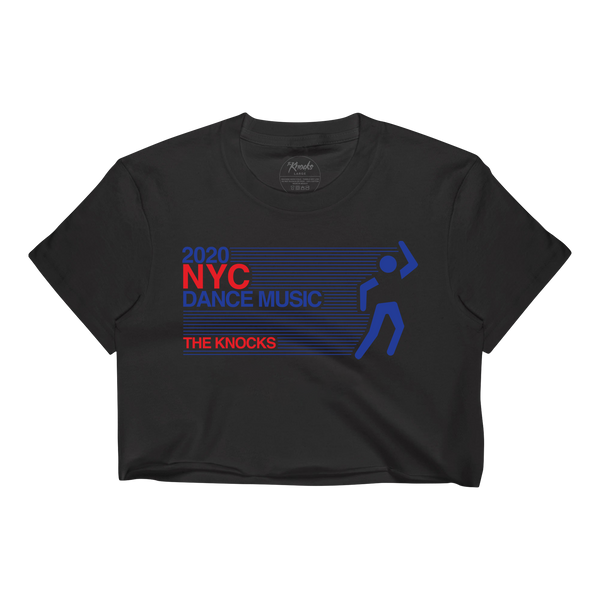 NYC Dance Music Vintage Crop Tee - Black