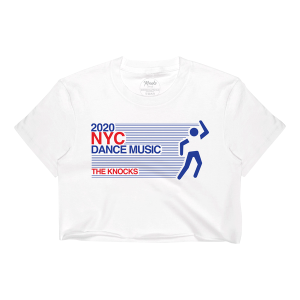 NYC Dance Music Vintage Crop Tee - White