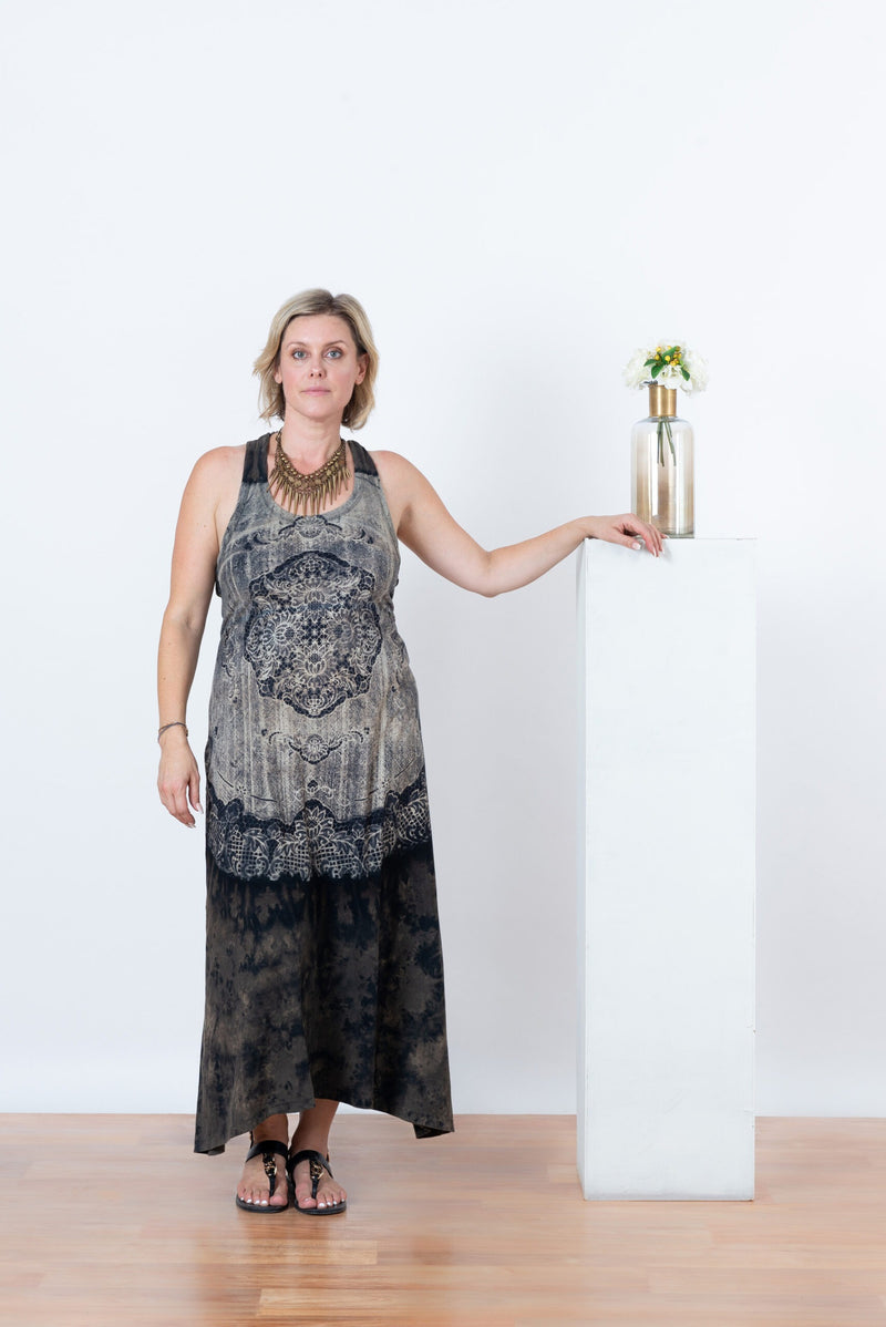 Maya Maxi Tie Dress with Sports Back