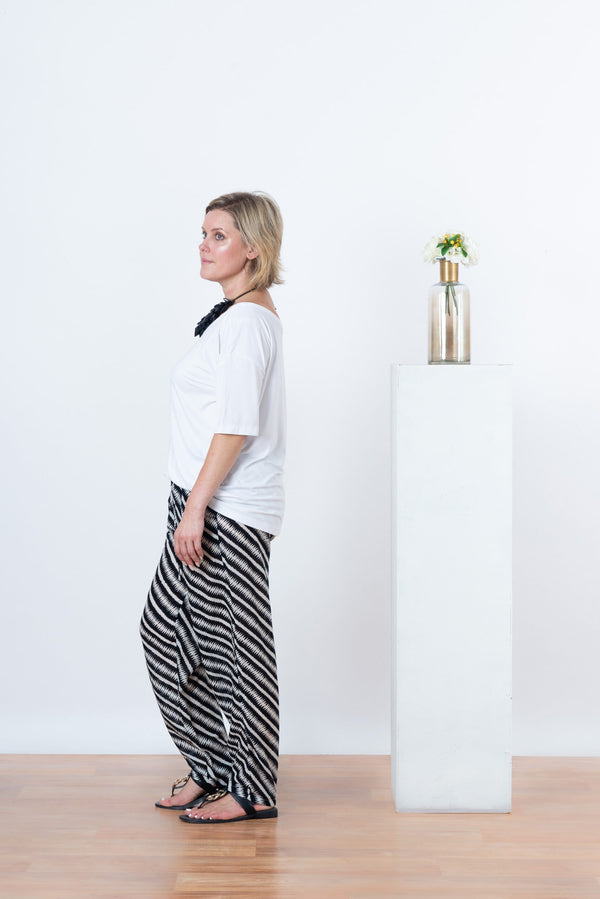 Alexis Black Stripe Pants