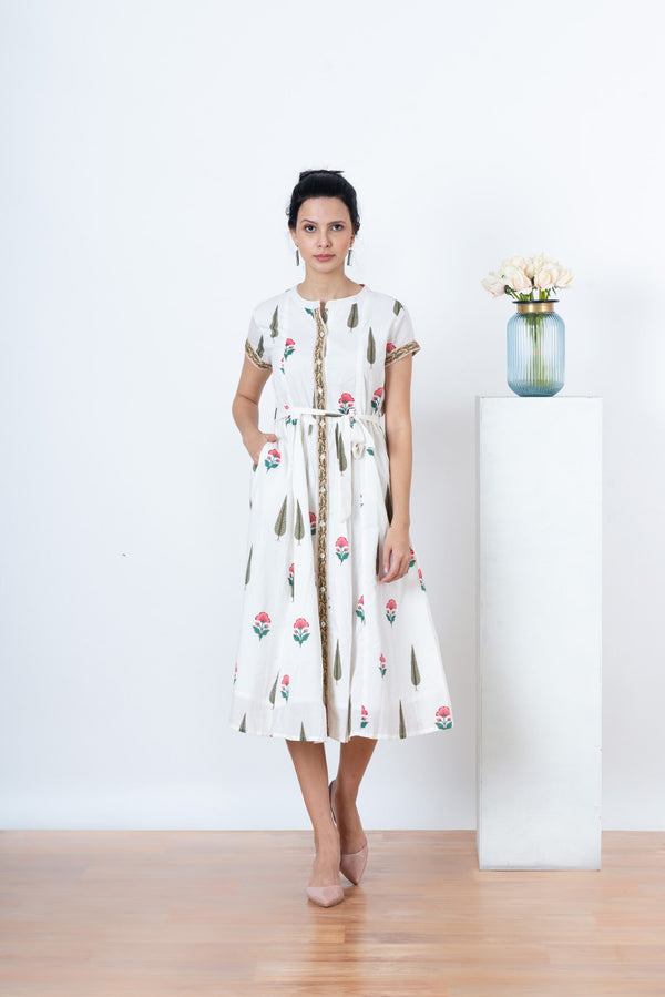 Celeste Dress with Tie Belt