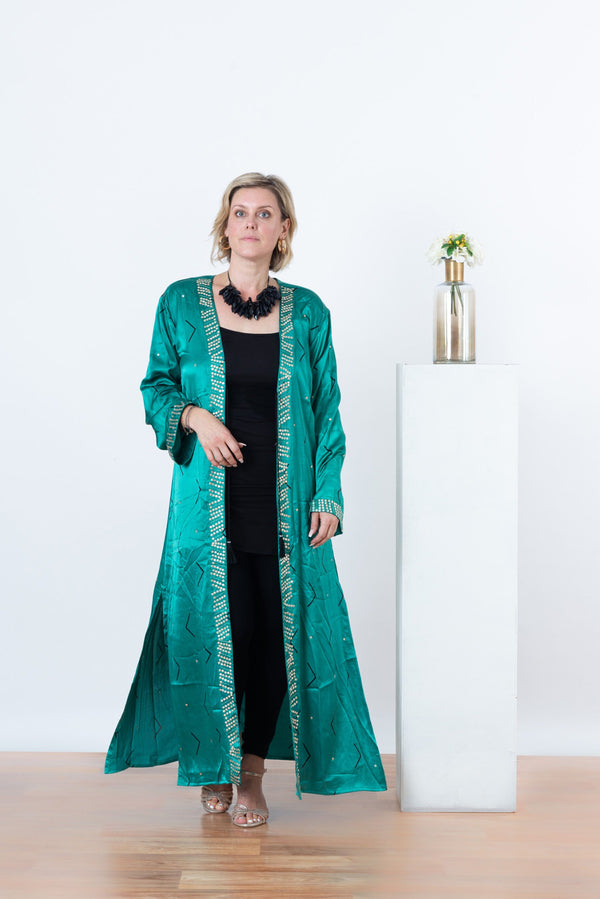 Zigi Cape - Teal Green
