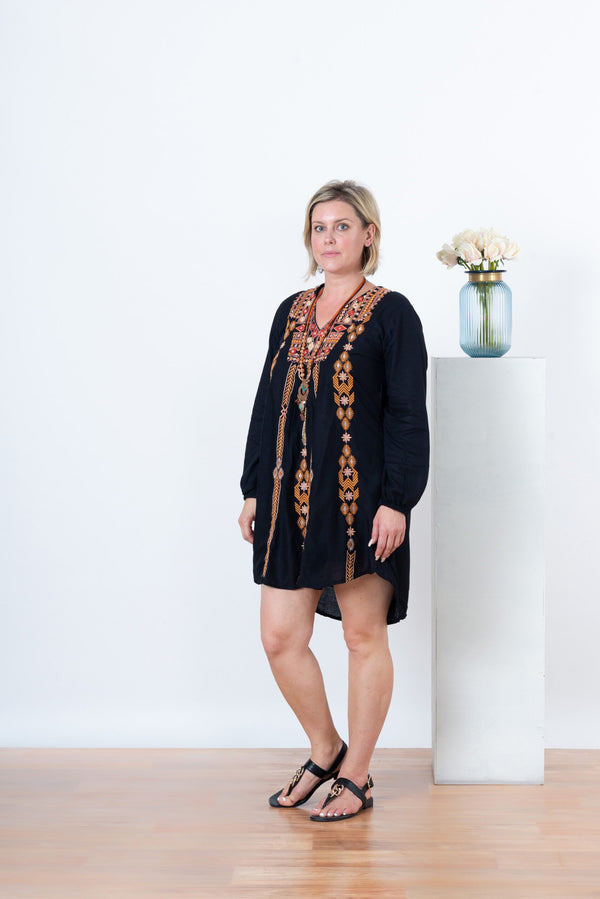Zelda Gypsy Dress - Black