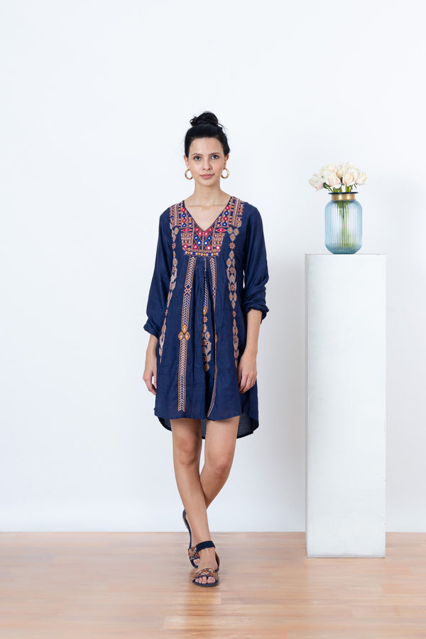Zelda Gypsy Dress - Blue