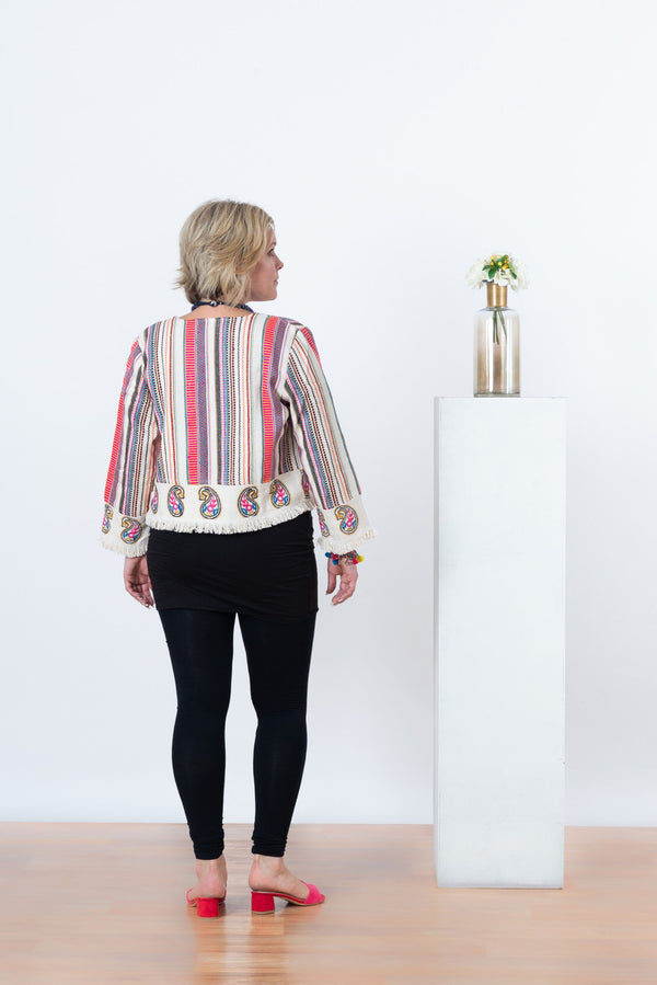 Raahi Stripe Jacket