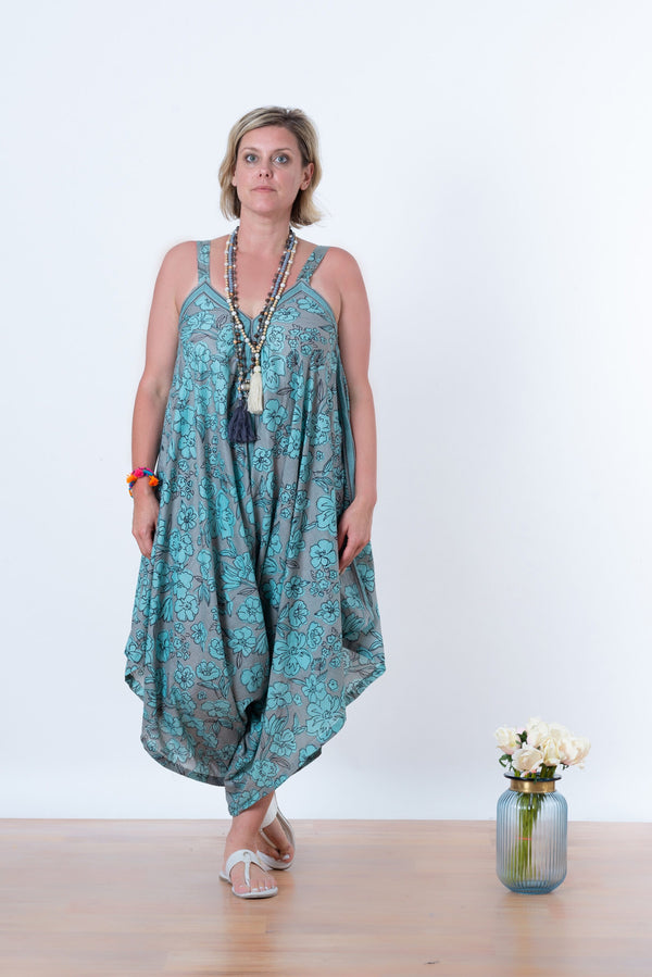 Ananda Jumpsuit - Green flowers