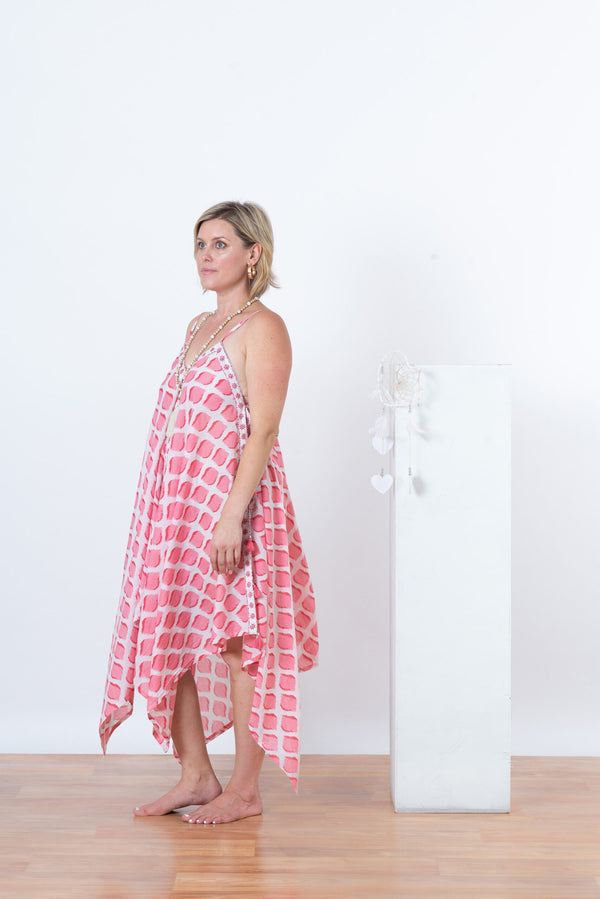 Sienna Dress - Pink Smudge