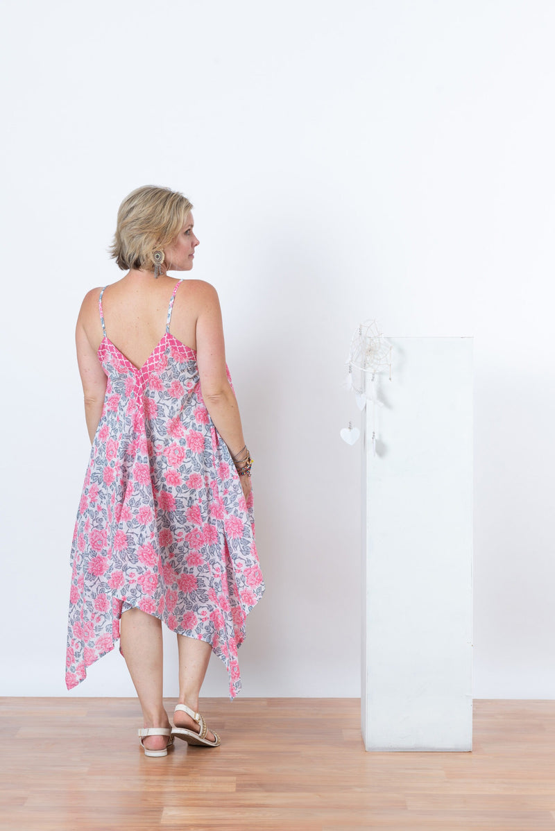 Sienna Dress - Pink Flower