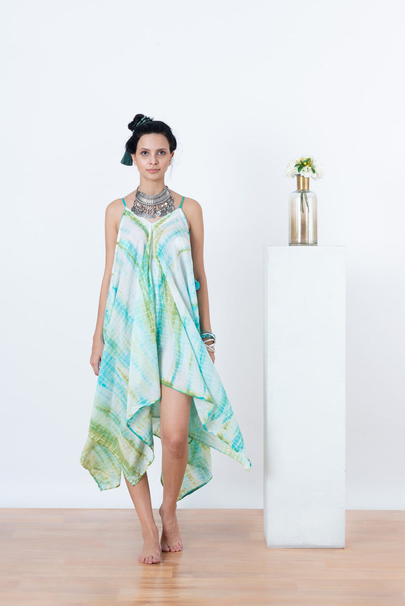 Sienna Dress - Aqua Tie Dye