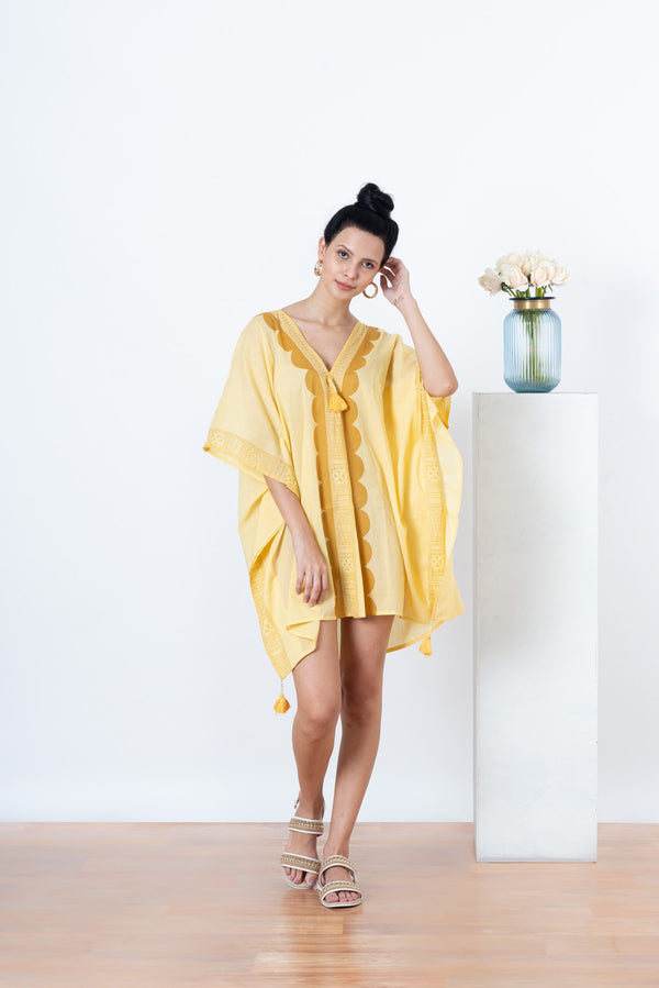Tara Kaftan Dusty yellow