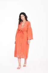 Autumn Moon Sunset Orange Road Duster