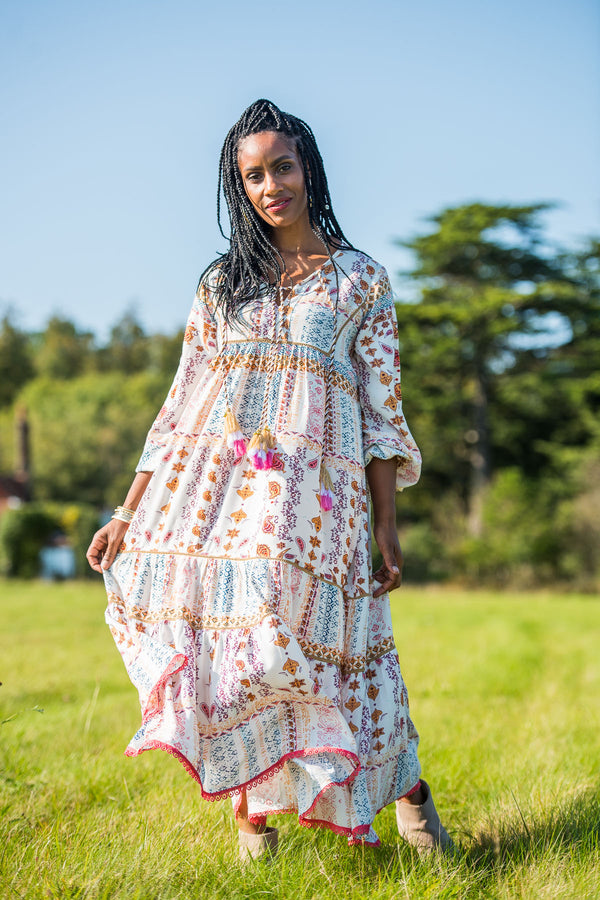 Autumn Moon Boho Dress