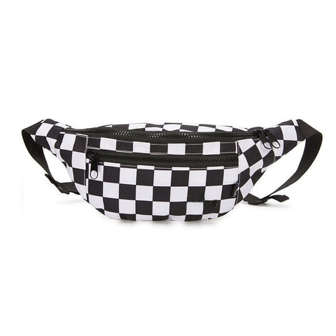 Checkerboard Fanny Pack 🖤