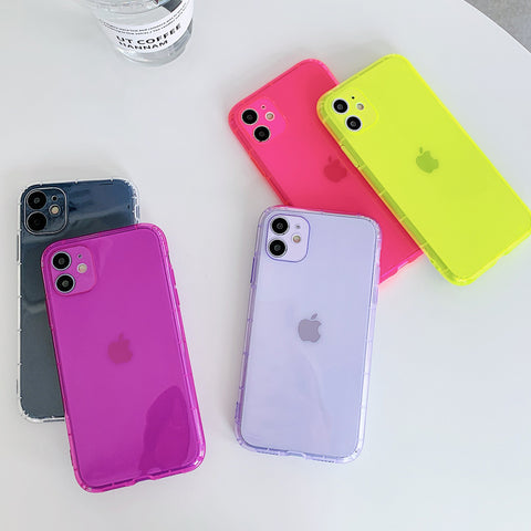 Fluorescent Soft Clear Cases for iPhone(s) 🍎📲
